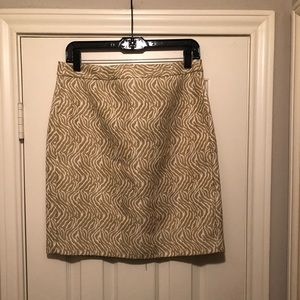 Printed silk blend skirt